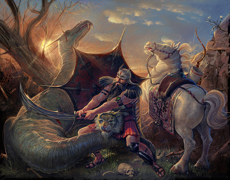 نبرد قهرمان با اژدها در روایت های حماسی ایران (3)