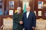 دیدار سردار سلیمانی با ظریف در وزارت امور خارجه