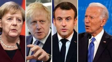 رهبران فرانسه، آلمان و انگلیس تلفنی با جو بایدن گفتگو کردند